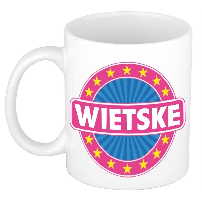 Wietske naam koffie mok beker 300 ml