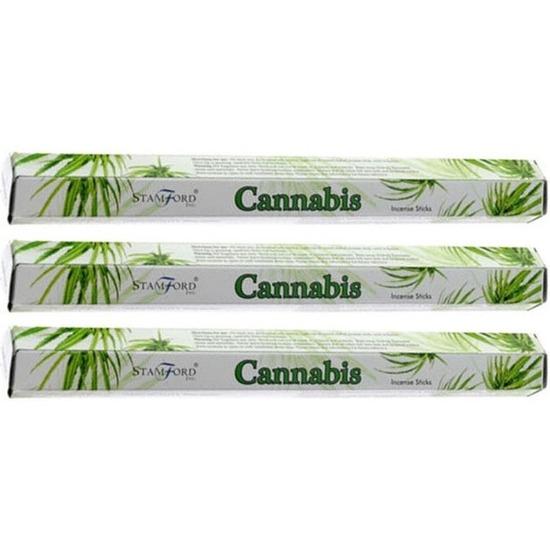 3x pakje stamford wierook stokjes cannabis marihuana wiet geur