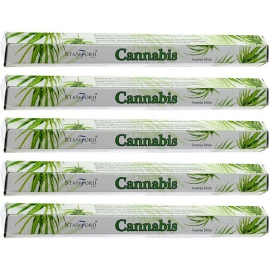 5x pakje stamford wierook stokjes cannabis marihuana wiet geur
