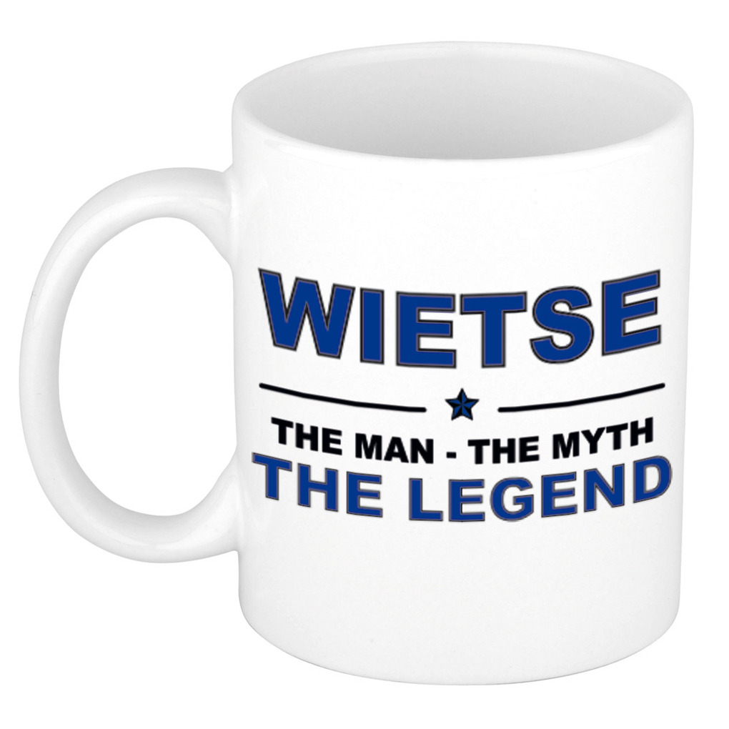 Wietse the man the myth the legend cadeau koffie mok thee beker 300 ml